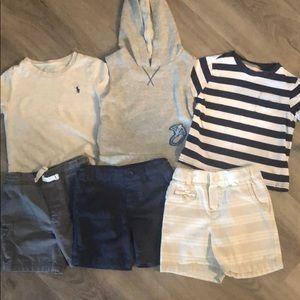 Toddler Boy Shirt/Short Bundle - 6pcs (18mos)